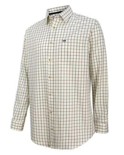 Hoggs of Fife Balmoral Shirt: Green / Brown